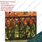 used wrought iron fencing /Decorative iron fence / wrought iron garden fence