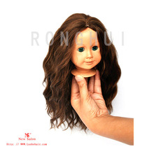 cute black small doll wigs celebrity wigs deep curl style