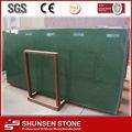 china venta caliente verde de cristal de cuarzo artificial losa de piedra