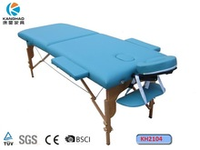 hot sales! 2 section wooden portable massage bed