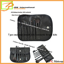 7 pcs cosmetic make up brush with colorful pounch