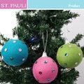 3 polegadas 2014 bonito feliz natal enfeite de árvore de tricô bola decoração de natal dropshipping