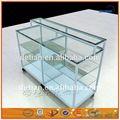 xangai moderna de vidro e alumínio e armário de exposição de metal rack metal carrinho de exposição prateleira portátil metal bancada cremalheira de exposição