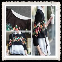 2014 Classic Slim-fit Women Miniskirt, Embroidery Design Casual Dress