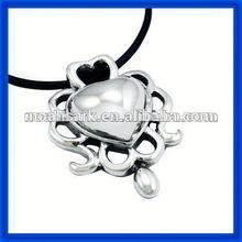 popular wholesale 2014 Stainless Steel Heart Shape Pearl Pendant TPSK623#