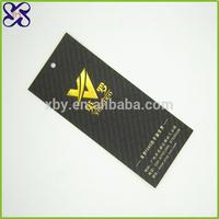 Luxurious design paper hangtag emboss custom garment tag