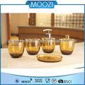 Inter de milán diseño Alston piezas accesorios de baño set, Ámbar / bronce