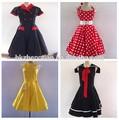 2014 mais barato bestdress Polka Dot 50 s balanço Pin up vintage rockabilly vestido plus size UK6-UK24