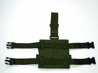 SWAT Airsoft Drop Leg Double Magazine Pouch Bag OD tool bag