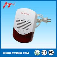 Kitchen cooking gas leak detector work with shut-off valve, household independent gas sensor