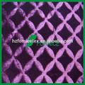 100% poliéster pv pelúcia longo pilha de tecido para decoração