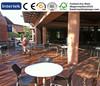 Teak Decking Floor Water Proof WPC Decking Floor Anti UV Wood Grain Grooved Boards Low Maintainence