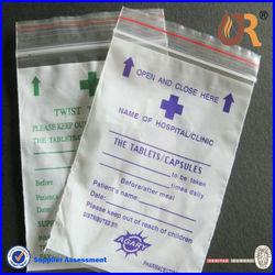New product custom printed zip lock plastic bag for medicine