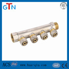 brass solar collector manifold for hot water