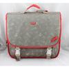 grey book bag polyester print kid school satchel backpack for primary boy