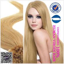 factory price 2014 hot sale 100% human nail hair/U tip hair extension