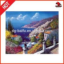 High quality modern handmade canvas island house seascape Oil Painting
