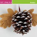 pulgadas 3 2014 nuevo de pino de cono de la naturaleza de adorno de navidad colgando decoración dropshipping