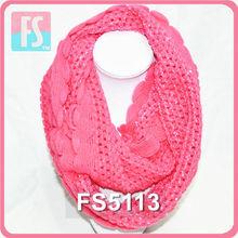 2014 winter knitted flower crochet scarf pattern