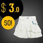 100% cotton floral mini wholesale latest skirt design pictures