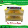 Fully automatic egg incubator hatchery 96 capacity chicken automatic egg incubator thermostat