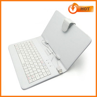 Factory price USB leather Keyboard Case for 7inch android Tablet case cover with keyboard black/white