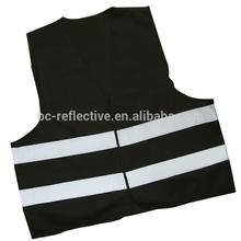 black EN471 reflective safety vest