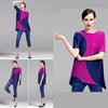 Latest trendy fashion Mexico Plus Size t shirt Women short sleeve Pleated wrinkled blouse Wholesale 2014