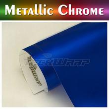 TeckWrap 2014 New Style Car Wrap Vinyl, 1.52*20M Pearl Blue Matt Chrome Car Wrap Foil