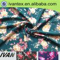 novo design floral impresso camisa de tecido composição