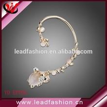 Women's Detachable Opal Cute Elephant Ear Cuff Jewelry