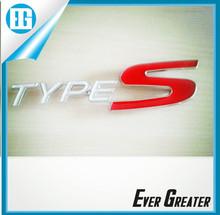customized 3M tape chrome japanese stickers car badge Adhesive 3D Car Body Emblem 22T metal chrome car
