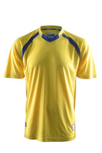 Supply blank yellow soccer jersey