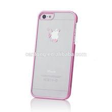 Pink Devil Demon Laser Transparent Mobile Phone Bags & Cases for iPhone5 5s 5g