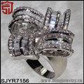 aliexpress de joyería árabe pavimentada zirconia anillo de nudo de vestuario