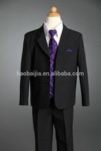 Boys Black Purple 5pc Formal Suit Wedding Tuxedo children suit Function 00/0/12M/18M/2/3/4/5/6/7/8/10/12/14/16