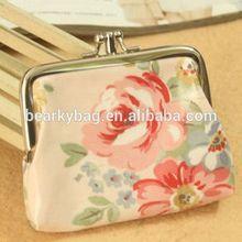 China 2014 fábrica de diseño impreso carteras/billeteras para la niña