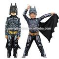 traje de halloween para crianças miúdos traje traje de batman
