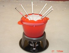New Product Cast Iron Fondue Sets As Seen On TV