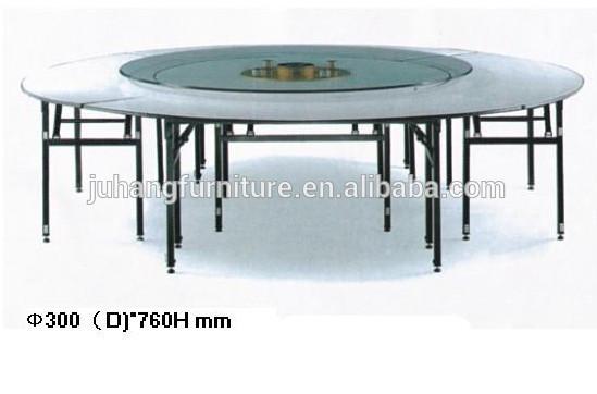저렴한 합판 접이식 원형 테이블 확장 가능
