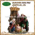 Venta popular hecho a mano religioso santo familia artesanía resina