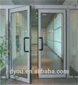 Puerta de cristal de doble hoja de vidrio templado
