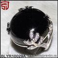 hojas de cojines de piedra turquesa plata sobre cobre shangjie anillo de la joyería