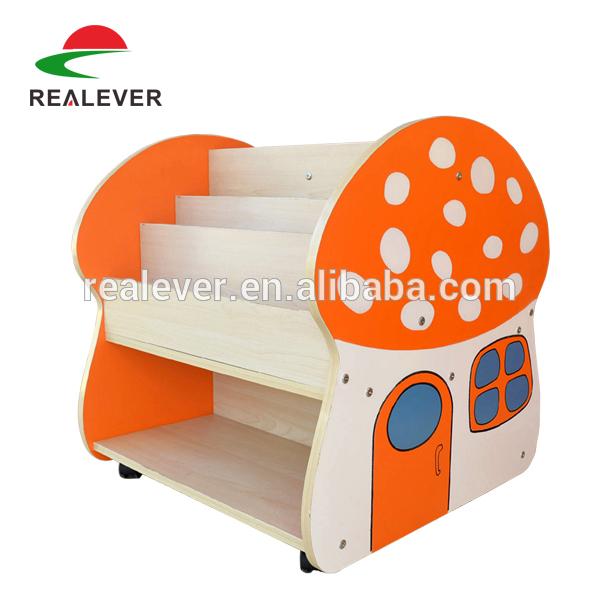 bunte kinder b cherregal cartoon design pilzform. Black Bedroom Furniture Sets. Home Design Ideas