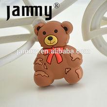 De color marrón suave oso de plástico para niños dormitorio perillas del gabinete, saca del cajón, los niños muebles de perillas