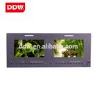 7 inch Dual Rack mount monitor for Professional TV Studio Broadcasting Center SD,HD,3G-SDI HDMI VGA AUDIO