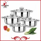 8Pcs Steel Induction Korea Cookware