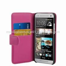 Mobile Phone Flip Leather Case for HTC One Mini 601e