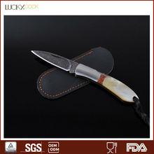 Beautiful sheath knife damascus hunting knife