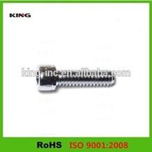 Manufactured in china zinc plated knurled cap screw